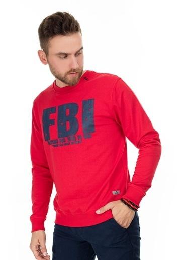 Fbi Sweatshirt Kırmızı
